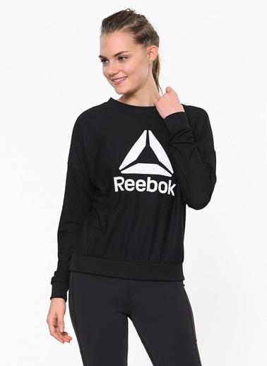 Reebok Baskılı Sweatshirt Siyah